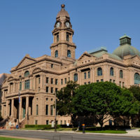 The Tarrant County Courthouse located in Fort Worth, Texas. NRHP Ref 70000762.